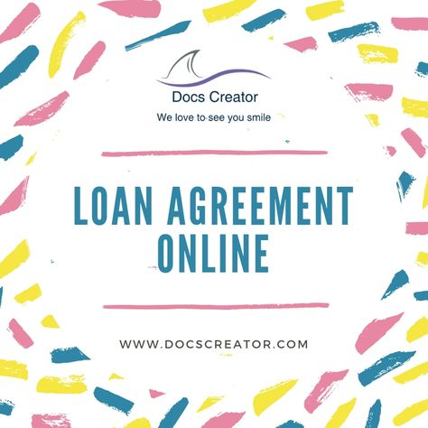 Do you want or need to create your loan agreement Online? Money is a