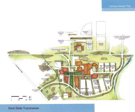 Tuscarawas Campus Master Plan Map | master plan on kent state ohio map, kent state stark map, kent state ashtabula map,
