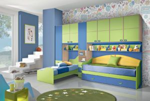 Camerette A Soppalco Verde.Camerette Bedroom Furniture Design Interior Design Apartment