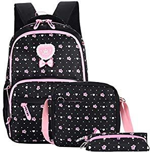 Mädchen Rucksack Schulrucksack Umhängetasche Kinder Brief Band Schultasche