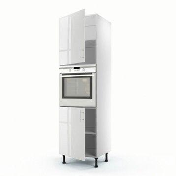Meuble De Cuisine Colonne Blanc 2 Portes Rio H 200 X L 60 X P 56