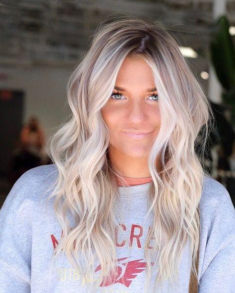 Bright Blonde Hair, Ombre Blond, Blonde Hair Looks, Ash Blonde Hair, Platinum Blonde Hair, Cool Ash Blonde, Bleach Blonde Hair, Blonde Hair Inspiration, Hair Inspo