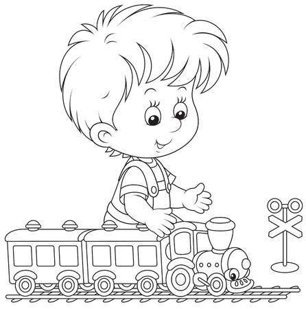 Child Playing With A Train Disney Coloring Pages Cute Coloring Pages Preschool Coloring Pages