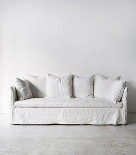 White Linen Couch In 2020 White Linen Sofa White Slipcovers