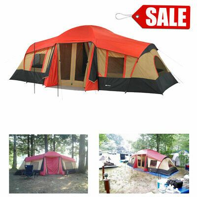 BRAND NEW Ozark Trail 10-Person 3-Room Vacation Tent with Built-In Mud Mat