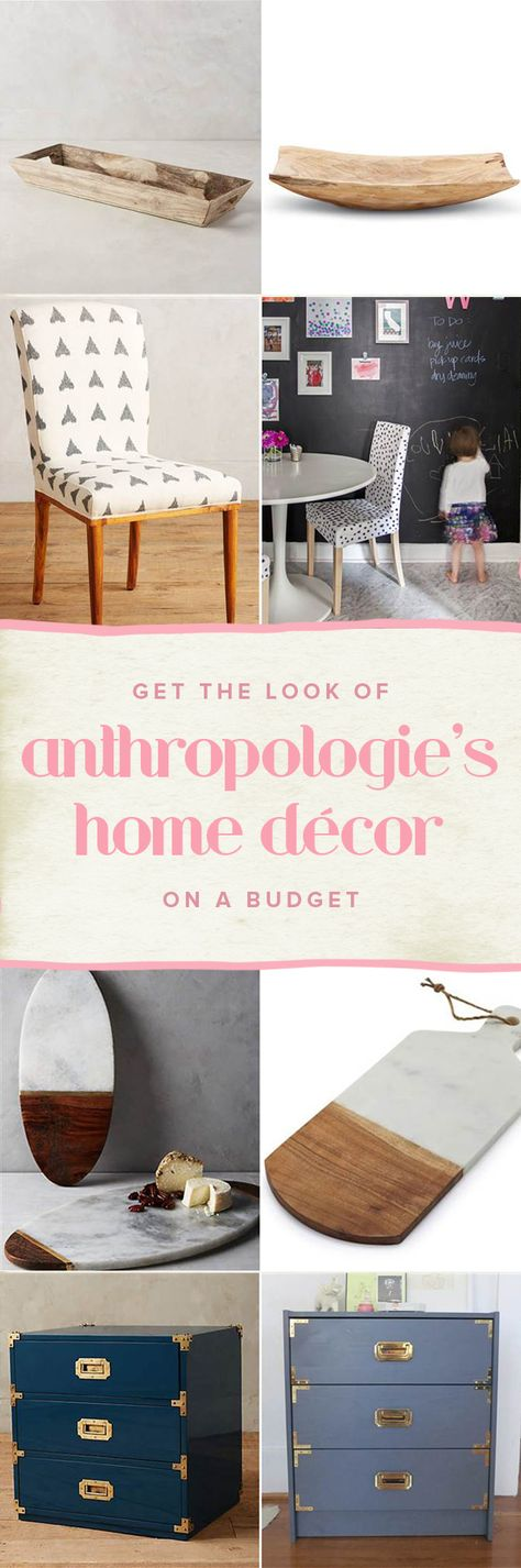 Love Anthropologie's home decor? Here's how to get the look for less