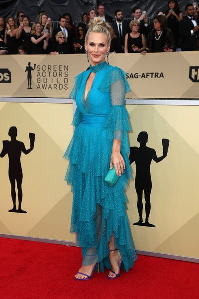 Molly Sims attends the 24th Annual Screen Actors Guild Awards.