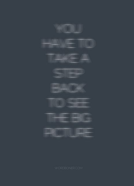 Take a step back by WRDBNR  #Quotation #Typography