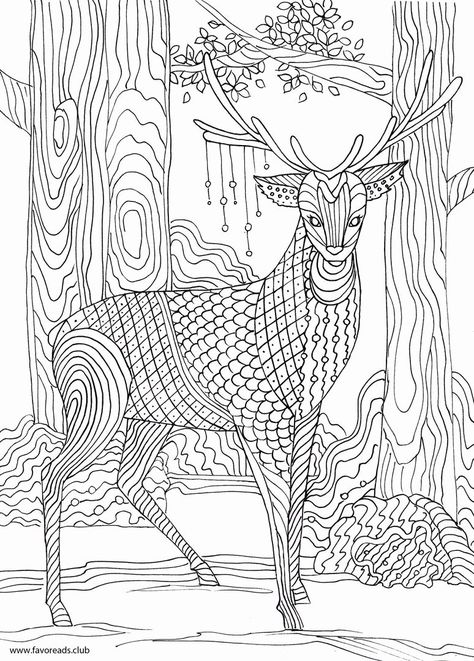 Adult Coloring Pages Deers New Deers Coloring Pages