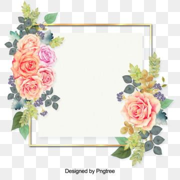 Small Fresh Leaves And Flowers Border Flower Png Images Flower Painting Beautiful Flowers