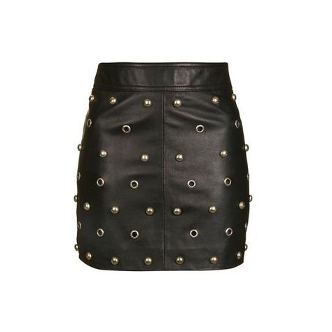 25dcc36210 TopShop Stud Front Leather Skirt ( 180) ❤ liked on Polyvore featuring skirts