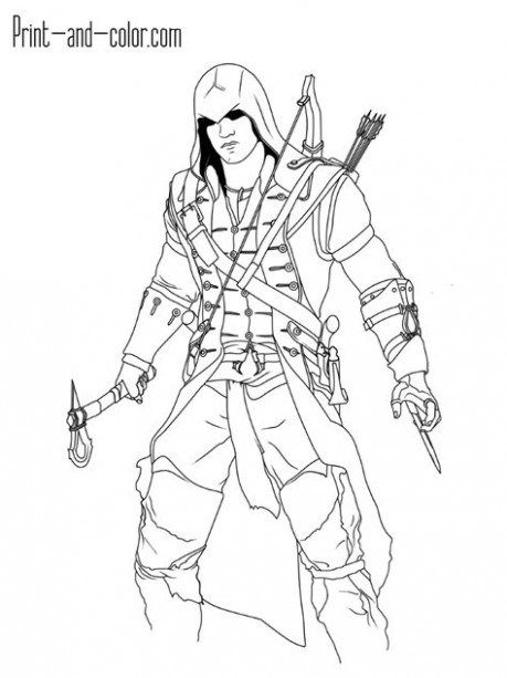 Assassins Creed Coloring Pages : assassins, creed, coloring, pages, Secrets, About, Assassins, Creed, Coloring, Pages, Creed,, Assassin's