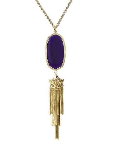Rayne Necklace In Purple Jade Kendra Scott Jewelry Kendrascott Teamks Purple Jade Kendra Scott Jewelry Gold Long Necklace
