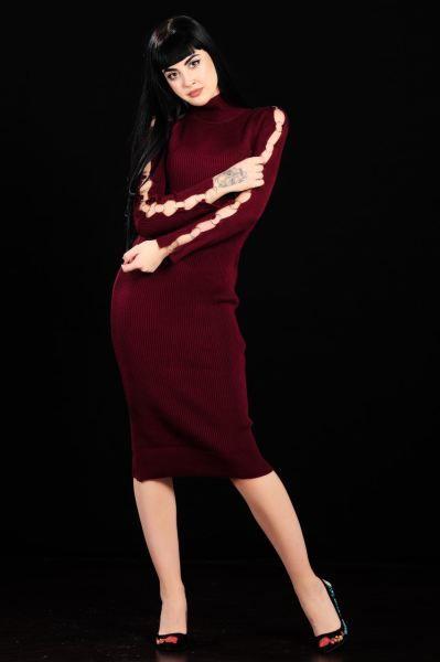 Elbise Kol Halka Detay Bordo Triko Elbise Cool Moda Salas Otantik Dugun Genc Modavigo Kap Erkek Moda Bayan Gunluk Elbise Elbise Modelleri Triko