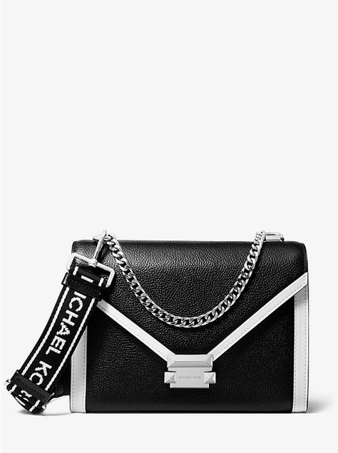 287944e43c92a MICHAEL KORS Whitney Large Pebbled Leather Convertible Shoulder Bag in  Black (or White) ~ Today s Fashion Item