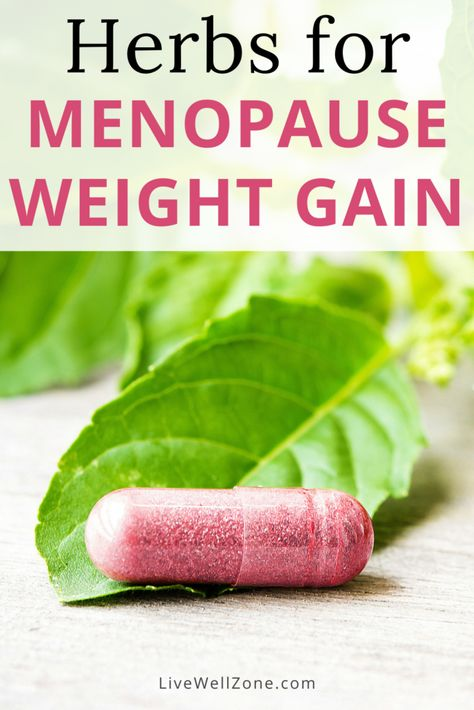 Herbs for Menopause Weight Gain (+ Best Supplements for 2021)