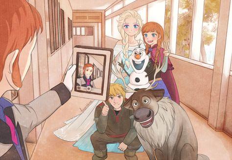 """. #Frozen #Selfie"""""""