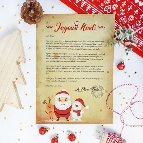 Lettre Au Pere Noel Personnalise.Lettre Du Pere Noel Personnalisee Noel Christmas