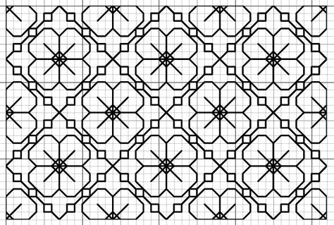 Blackwork Fill Pattern- could you use this for chicken scratch pattern Más Enjoy :) Please click image to enlarge Fill Pattern This fill reminds me of sakura flowers. Lovely and dainty Motifs Blackwork, Blackwork Cross Stitch, Blackwork Embroidery, Cross Stitching, Cross Stitch Embroidery, Embroidery Patterns, Chicken Scratch Patterns, Chicken Scratch Embroidery, Graph Paper Drawings