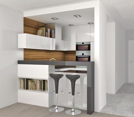 Aneks Kuchenny Oddzielony Barkiem Aranzacje Wnetrz Architekt Radzi Aranzacje Wnetrz Projekty Urzadzanie Mieszkania Wiado Kitchen Decor House Design Decor