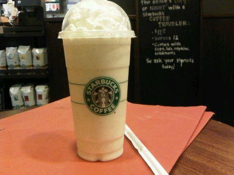 Vanilla bean frappachino's at Starbucks...like a vanilla milkshake but better!!!