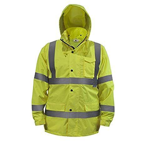Jorestech High Visibility Light Weight Waterproof Rain Jacket Ansi Isea 107 2015 Class 3 Level 2 Mediu Waterproof Rain Jacket Rain Jacket Pullover Rain Jacket