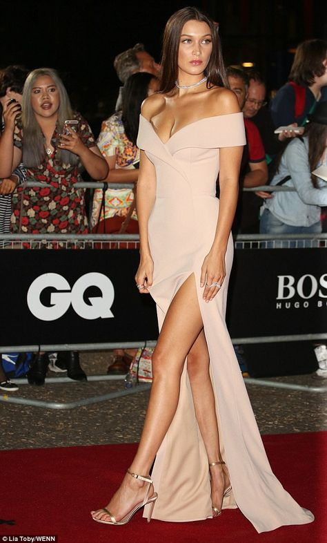 Bella Hadid rocks plunging gown at the GQ Men of the Year Awards