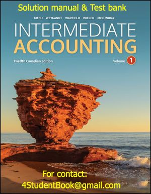 Intermediate Accounting Volume 1 Study Guide 11th Canadian Edition