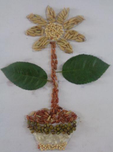 710 Koleksi Gambar Kolase Sederhana Dari Biji Bijian Gratis Ide Kerajinan Ornamen Natal Bunga