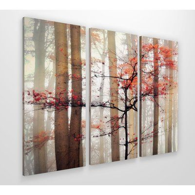 Orange Awakening Photographic Print Multi Piece Image On Wrapped Canvas Picture Wall Print Sets Painting Prints