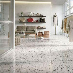 Carrelage Sol Et Mur Terrazzo Mist Marbre Naturel Blanc Multicolore 60x60 Cm Adouci Rectifie Terrazzo Carrelage Granito Carrelage