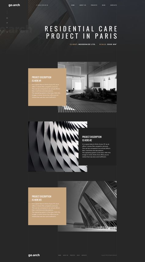 go.arch is a luxury, elegant and trendy PSD template designed in two color styles: black & white. You can be use it for a lot of websites, like architecture buerau, interior design and and oth...