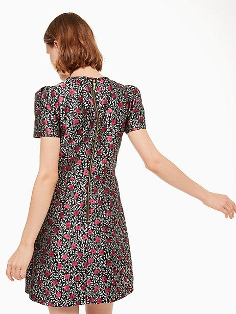66e6802b52e2 Kate Spade Floral Park Jacquard Dress, Black - Size 00 | Products ...