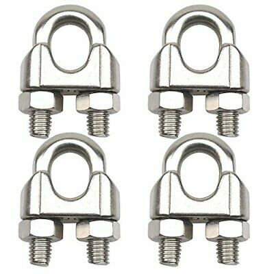 Dywishkey Pack Of 4 3 8 Inch M10 Stainless Steel Wire Rope Cable Clip Clamp Stainless Steel Wire Wire Rope Sling Stainless Steel Cable Railing