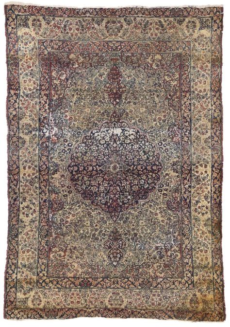 Distressed Vintage Persian Kerman Rug With Modern Industrial Style From A Unique Collection Of Antique And Persian Kerman Rugs Modern Persian Rug Kerman Rugs