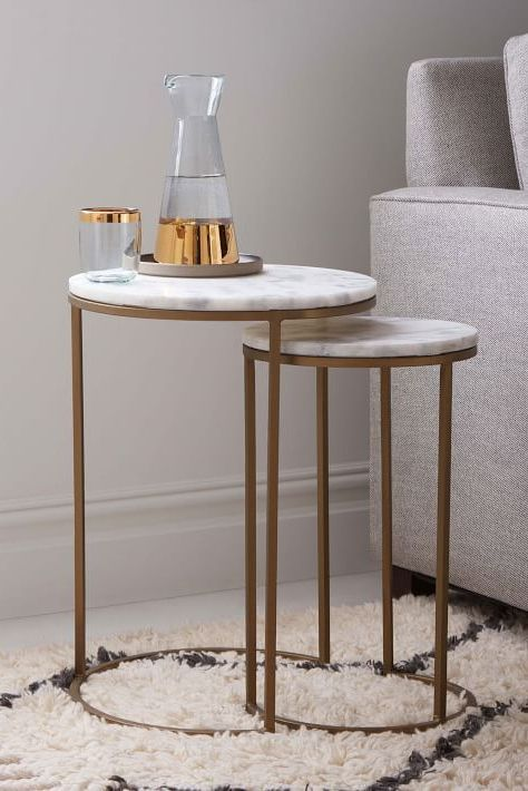 Floating Disks Side Table In 2020 Marble End Tables Side Table