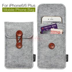 Online Shop phone bag For iPhone 6 Plus 5.5 inch case For iPhone 6 4.7 inch bags mobile phone bags cases Case Cover Wool Felt Wallet|Aliexpress Mobile