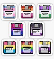 Pride Floppy Disk Set Sticker