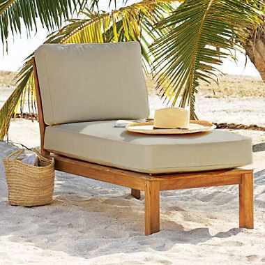Teak Sectional Lounger With Cushion Sam S Club Teak Patio Furniture Outdoor Chaise Lounge Chair Patio Furniture Chairs