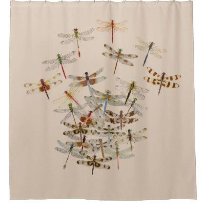 Dragonfly Shower Curtain Zazzle Com With Images Designer
