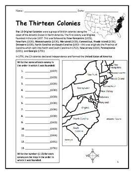 50+ 4th grade 13 colonies worksheets Top