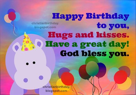 Christian Free Card For Kids Birthday