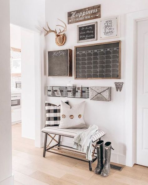 command middle group calendar mudroom chalkboard mail sorter s Cheap Home Decor, Diy Home Decor, Room Decor, Home Decorations, Home Wall Decor, Family Command Center, Command Centers, Command Center Kitchen, Chalkboard Command Center