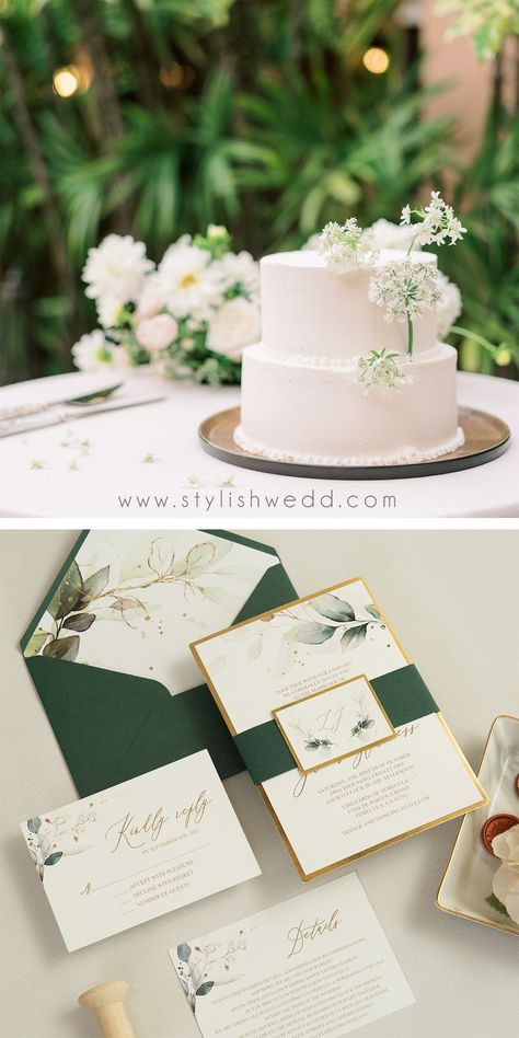 The greenery botanical design is perfect for any season and this is an invitation that is sure to impress. #weddinginspirations#weddinginvitations#stylishwedd#vellumweddinginvitations#savethedate#weddingstationery