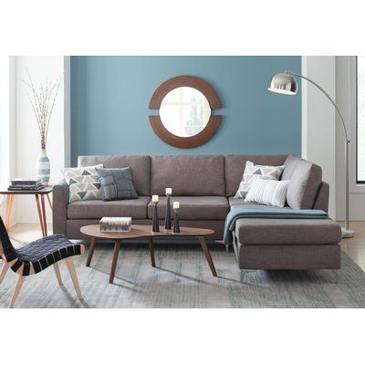 Mercury Row Innis 101 Reversible Sectional Wayfair In 2020 Contemporary Living Room Design Modern Furniture Living Room Living Room Scandinavian