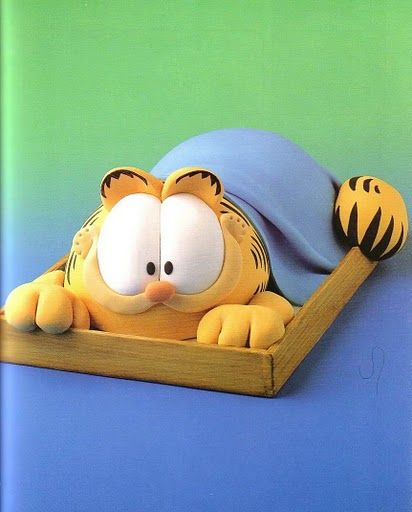 Garfield cake... I need to find someone who can make this for my husbands birthday, he would love it!