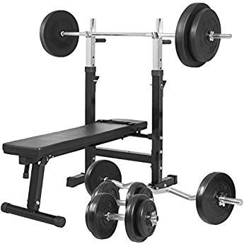 Gorilla Sports Weight Bench With 100kg Vinyl Complete Weight Set In 2020 Weight Benches Weight Set Weight