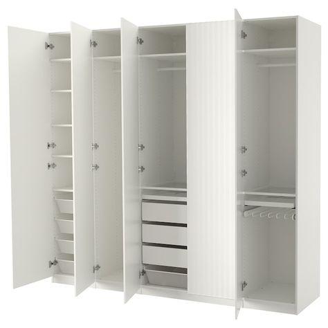 Ikea Armadi E Guardaroba.Pax Guardaroba Bianco Sorumsand Bianco 250x60x236 Cm Pax