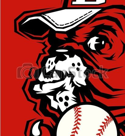 Bulldogs Baseball Team Design With Half Mascot Holding Ball For School College Or League Bulldog Baseball Team Mascot