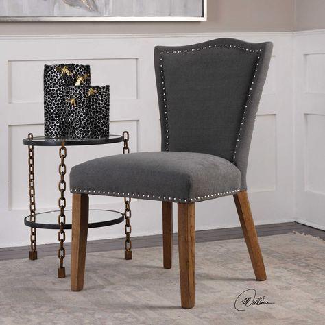 50d2c03444e Armen Living Gobi Tufted Dining Chair Black in 2019